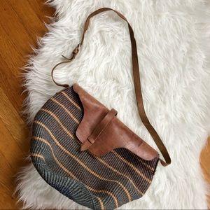 Vintage | Round Woven Basket Bag